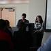 Dr. Curzon introduces Heather Levesque, grad student in Women's Studies.