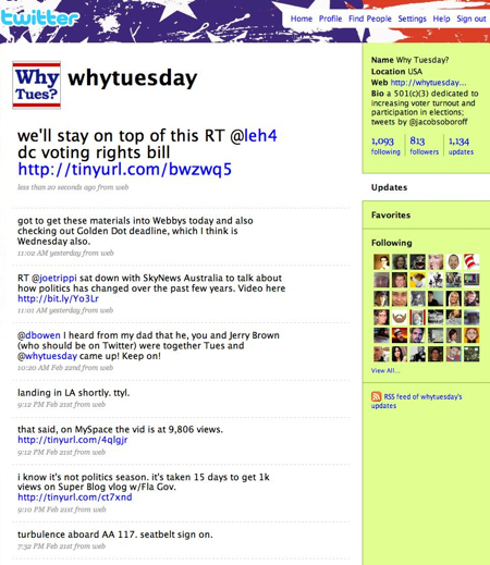 Why Tuesday? on Twitter
