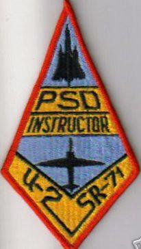 PSD, Instructor Patch, Beale AFB, SR-71, U2R, TR-1A