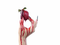 promotional photography by studio brederoo (Studio Brederoo) Tags: by studio blood strawberry hand theatre finger made nails bleeding dripping brederoo
