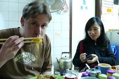 Having breakfast in Hong Kong Island (lloydi) Tags: ian hongkong hongkongisland ianlloyd hongkong2009