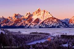 The Main Event (James Neeley) Tags: sunrise landscape bravo wyoming grandtetons beforeandafter tetons grandtetonnationalpark gtnp mywinners aplusphoto flickr10 jamesneeley