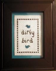 Nau-ghty! (Stitch Out Loud) Tags: bird crossstitch craft dirty stitchoutloud