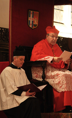 Cardinal Pell enthroned during Vespers