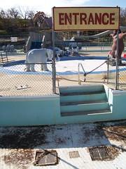 Racing Rapids at Santa's Village Abandoned (Steve Moudry) Tags: park abandoned water amusement illinois ride slide roller rollercoaster waterslide coaster waterpark eastdundee