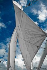 Lets sail this week as fast as v can... (r a r a r a j | fotography) Tags: ocean blue sky beach clouds sailboat canon bay florida miami sail ready week keywest 1740mm sebago rathan 450d rebelxti