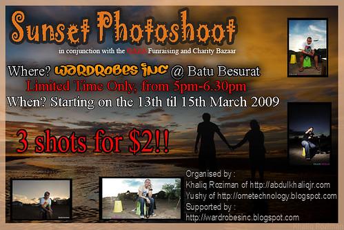 Sunset photoshoot flyer copy