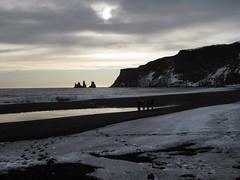 Reynisdrangars aka Basalt sea stacks aka stone trolls (kaydeesquared) Tags: snow beach landscape blacksand march iceland atlanticocean 2009 trolls reynisdrangar reynisfjall vkmrdal