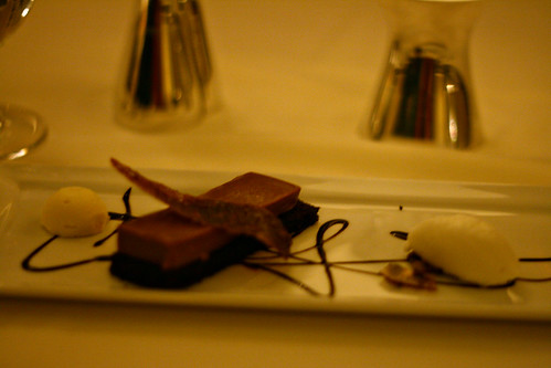 Panna Cotta, Chocolate Cake, Sherbet