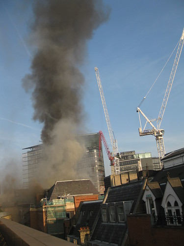 Fire at Chancery Lane, London