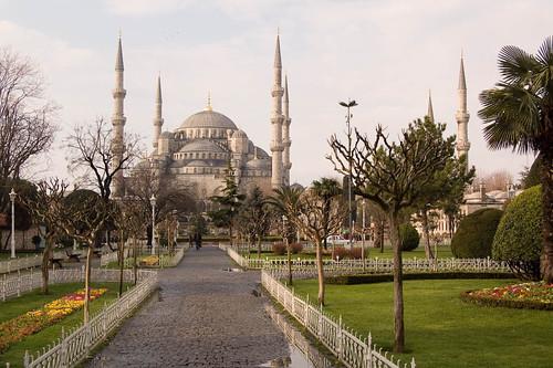 Mezquita azul (Sultan Ahmet) en Estambul