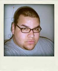 Hey! (antnavjr) Tags: bear gay me polaroid glasses geek chub mexican latino hispanic