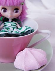 Taika loves tea-time