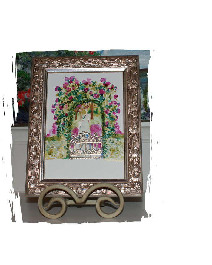 etsy-garden-gate-framed