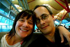 Linda and me at Madrid Barajas International Airport (jumblejet) Tags: spain madridbarajasinternationalairport