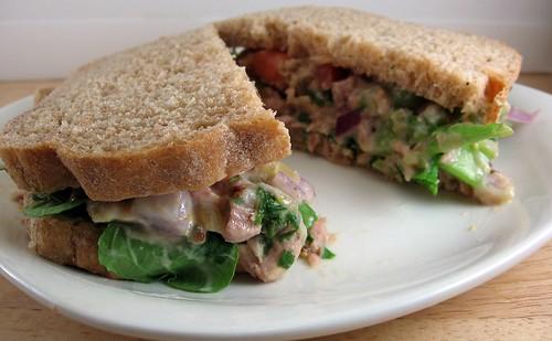 Dijon-Cilantro Tuna Salad