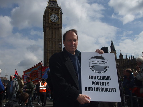 Simon Hughes at the Put People First rally