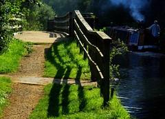 Kennet & Avon (lovestruck.) Tags: uk bridge shadow green nature water canal ground berkshire kennetandavon towpath sigma105mm challengeyouwinner pentaxk10d marshbenham pentaxk10 geo:lat=51398168 geo:lon=1380919
