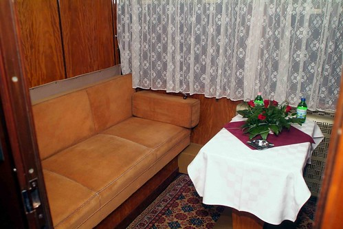 Train Chartering - Hungarian former presidential rail car, presidential cabin in day mode