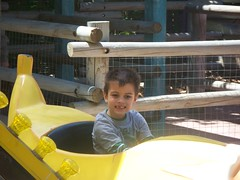 stryker on the banana ride (domagtoy_family_fun) Tags: isabel roxy stryker lowryparkzoo
