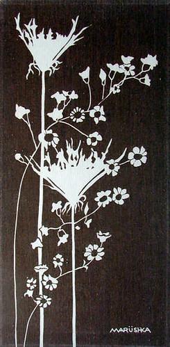Marushka - wildflowers (brown and cream)