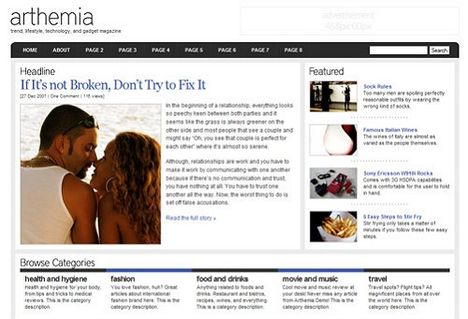 Arthemia Free Wordpress Theme