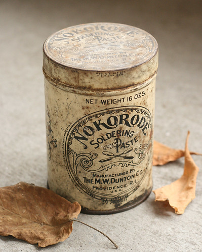 Vintage Nokorode Soldering Paste Can by Leader Of Men