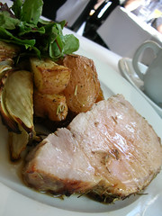 My pork tender loin, roasted potatoes and fennel