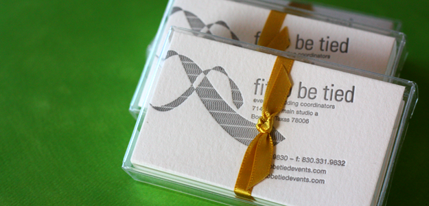 Fit To Be Tied Business Cards, Finished