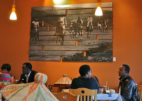 Inside Taste of Ethiopia