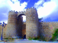 "Avila - the city wall (tinica50) Tags: spain avila historicbuildings abigfave top20castle hccity ""solofotos"" europamedieval castillaeleon"