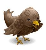 Steampunk Twitter Badge