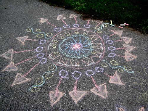 Sidewalk Mandalas