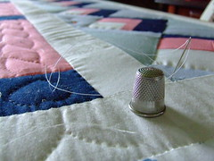 The process of hand quilting