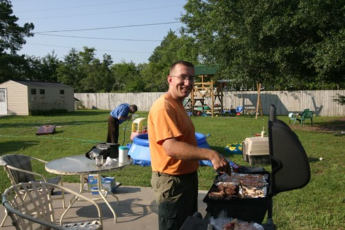 Alex, the Grill Master of the Day!