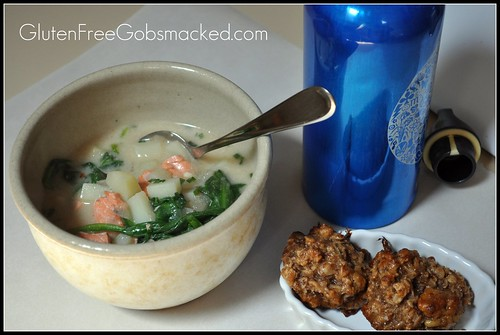 Mommy Meal:  Salmon Chowder Lunch (Gluten free, of course)