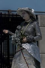 Silver Lady (skuarua) Tags: lady oregon silver portland geotagged streetperformer willametteriver portlandsaturdaymarket silverlady skiprussell
