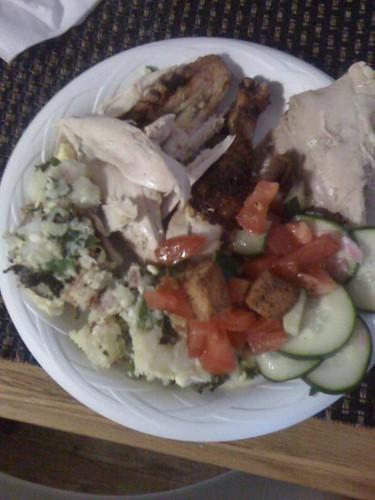 Picnic dinner - inside!
