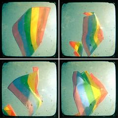 Rainbow Flag (_cassia_) Tags: sky sunlight blur shop vintage rainbow brighton colours stripes flag etsy gaypride dust rainbowflag imperfection quadtych ttv throughtheviewfinder cassiabeckcom summerfestivalweek