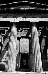 Symmetry (elisa scussolin) Tags: light shadow white temple blackwhite ombra symmetry balck bianco nero bianconero luce biancoenero simmetria tempio atene athna