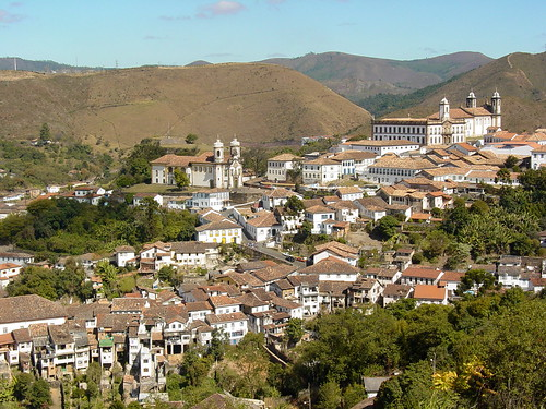 View over Ouro Preto from the Road into Town - Minas Gerais
