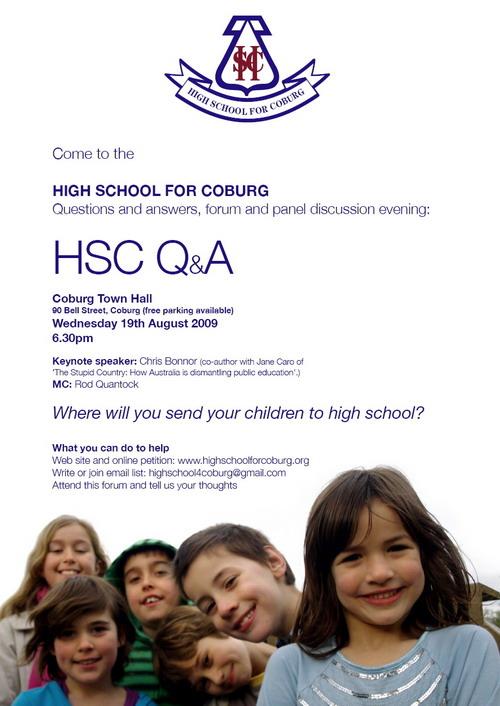 HSC Q&A poster
