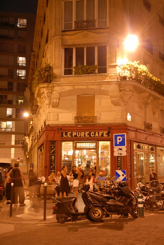 Le Pure Cafe at night