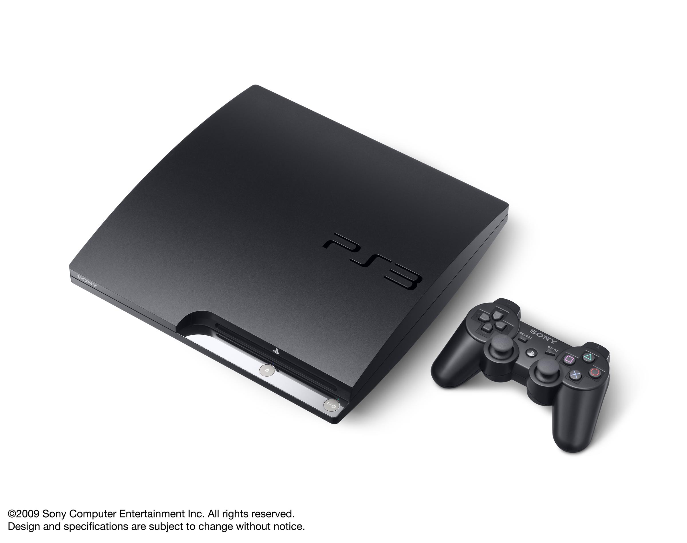 Игровая приставка Sony PlayStation 3 Slim.