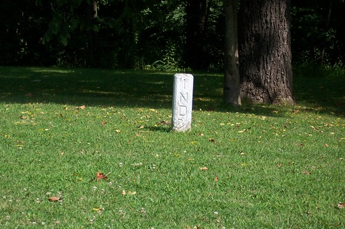 Indiana right-of-way marker
