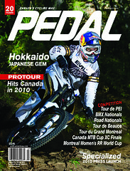 Pedal Magazine Summer 09 Cover (transcendmag) Tags: published mountainbike downhill cover mtb stevesmith fraserbritton