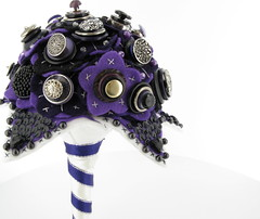 Goth bouquet 5 (jamball) Tags: weddingbouquet floralbouquet buttonbouquet greenwedding unusualbouquet weddingalternative feltbouquet recycledwedding