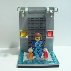 Fixing the generator (crises_crs) Tags: girl lego space generator custom vignette lugpol