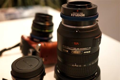 Bagues Novoflex sur GH1 pour optiques Nikkor, Pentax, Leica etc