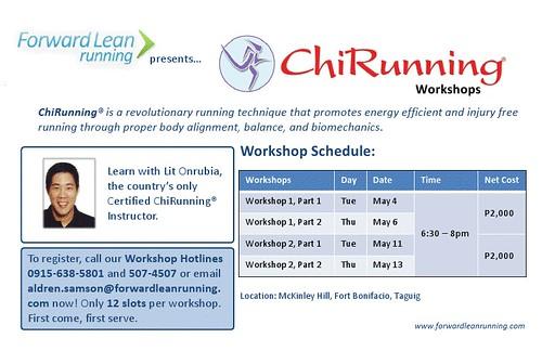 Forward Lean Running - ChiRunning Workshops